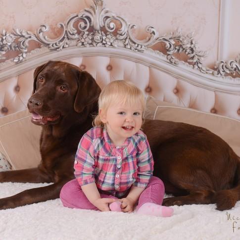 Fotoshooting mit Kindern und Hunden im Fotostudio in Butzbach