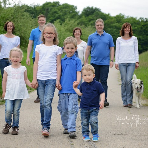 Friedberg Familienfotos,Fotos in der Natur, ganze Familie
